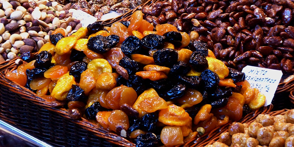 Dried fruit are but one of the many awesome foods found in Markets and Bazaars when embarking on Cuisine and Food Themed Travel around the Globe.
