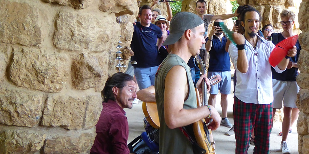 Glamping experiences provide glampers with a diverse range of activities, including hedonic experiences, educational experiences, escapist experiences and aesthetic experiences. Here tourists are introduced to Spanish Flamenco music.